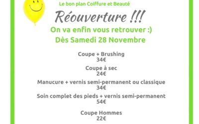 Réouverture du salon Beauty Pop-Up ce Samedi 28 Novembre