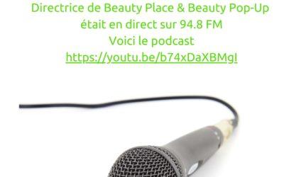 Beauty Pop-Up à la radio
